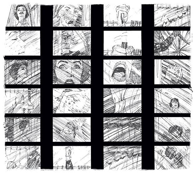 psycho storyboard - 10 Hoteles de Cine