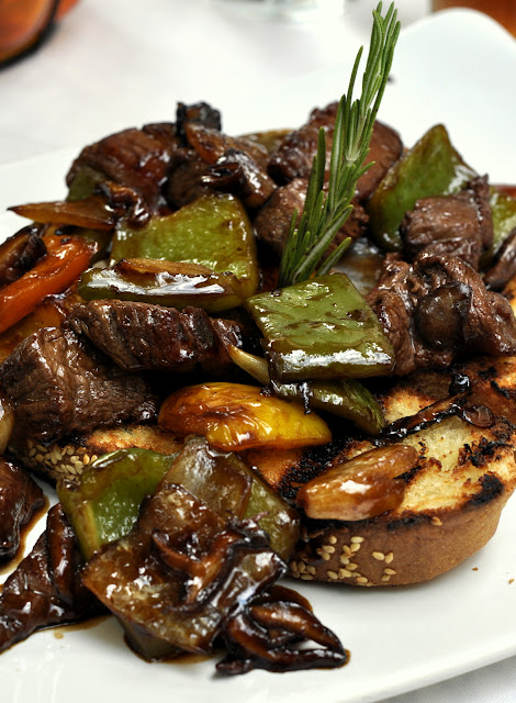 Tenderloin-Steak-Tips-Wild-Mushrooms-Sweet-Peppers-Demi-Glace-Osteria-Avanti-at-The-Inn-at-Leola-Village-Leola-PA-tasteasyougo.com