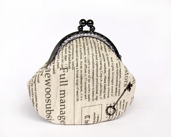 retro purse, кошелек на фермуаре