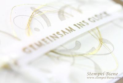 Hochzeitseinladung; Einladung Kirchliche Trauung; Stampinup Hochzeitskarte; Hochzeitskarten basteln; Hochzeitspapeterie; Hochzeitsbastelworkshop; Stempel-Biene; Stampinup Everythin Eleanor