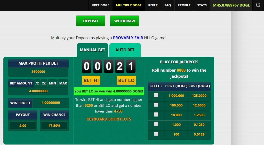 Gambling dogecoin