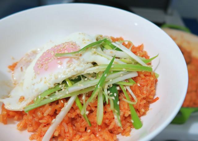 kimchi fried with sesame spring onion salad | salt sugar and i