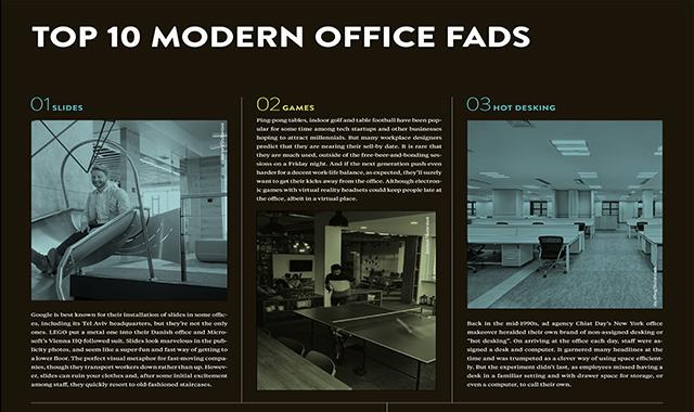 Modern office fads