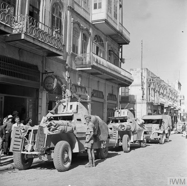 Marmon-Herrington armoured cars in the streets of Aleppo, 22 July 1941 worldwartwo.filminspector.com