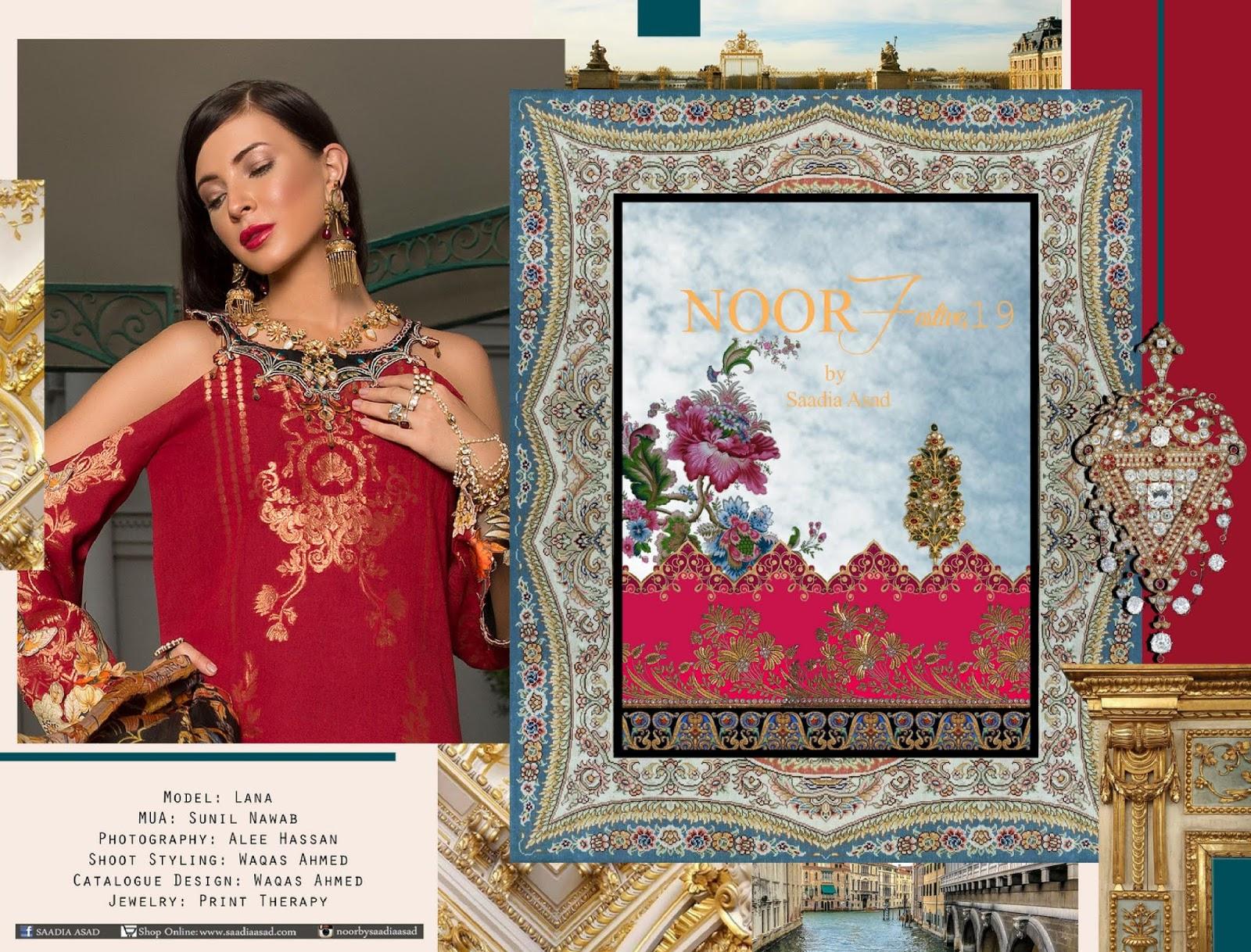 dbaebcaabb 4Seasons Fashion: Noor Festive Luxury Lawn by Saadia Asad 2019