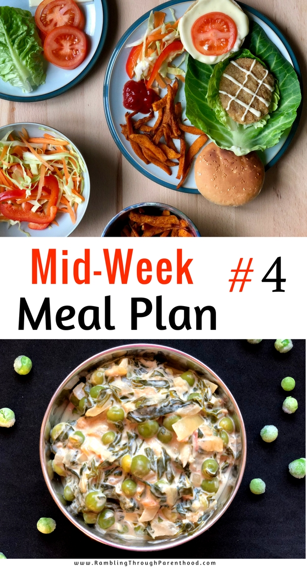 I am making a Mid-Week Meal Plan #4 that takes me through the rest of this week and to the middle of half-term. I am choosing a menu that involves minimal fresh ingredients, relying more on my store cupboard stock. That way, there is less chance of food waste should we decide to eat out or do a take-away instead.