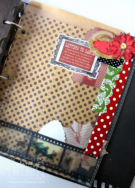Christmas Album by Bernii Miller using the BoBunny Christmas Collage for Scrap N Patch .