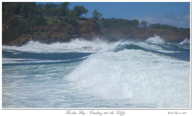Keokea Bay:  Crushing into the Cliffs