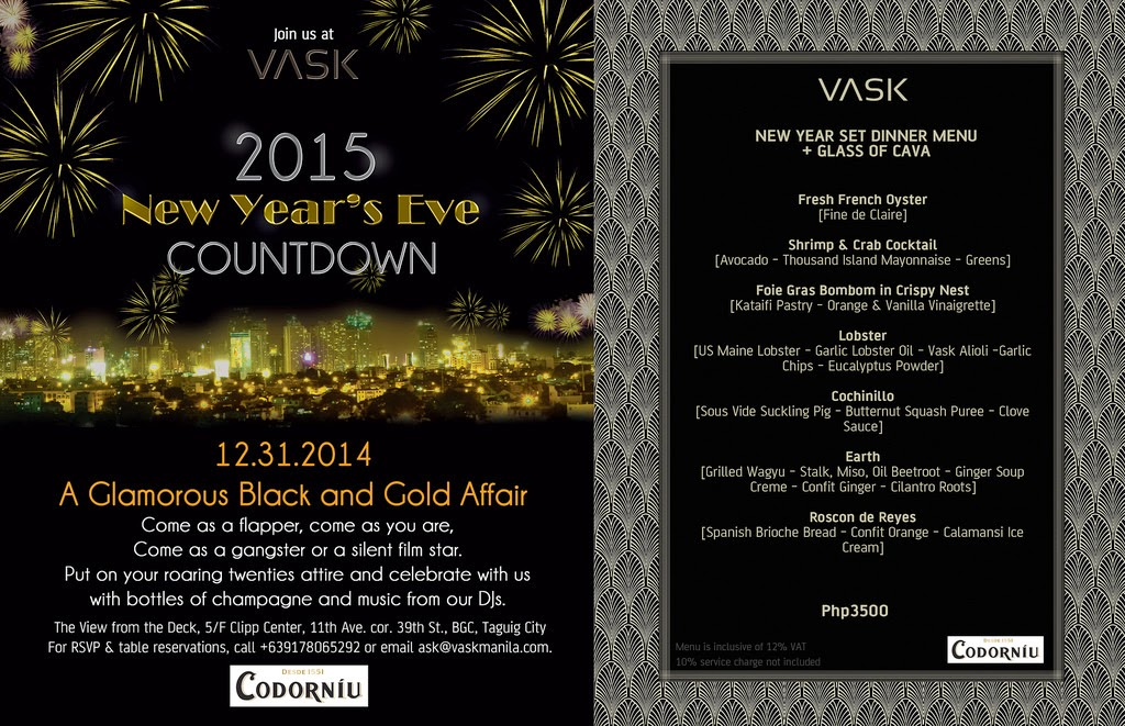 2015 New Year's Eve Countdown at Vask