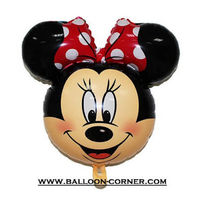 Balon Foil Kepala Minnie Mouse Mini