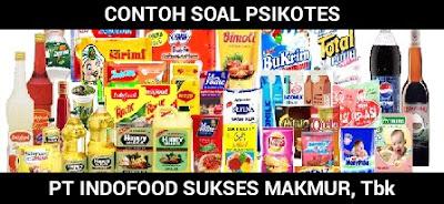 Contoh Soal Psikotes PT. Indofood Sukses Makmur Tbk tahun 2018 dan Jawabannya