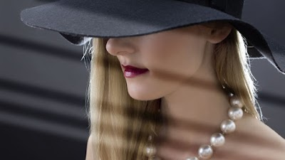 Mysterious Lady with Pearls