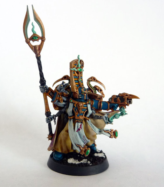Thousand Sons Exalted Sorcerer on Disc for Warhammer 40,000