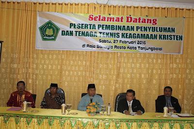 Kemenag Tanjungbalai Adakan Pembinaan Penyuluhan Agama Kristen