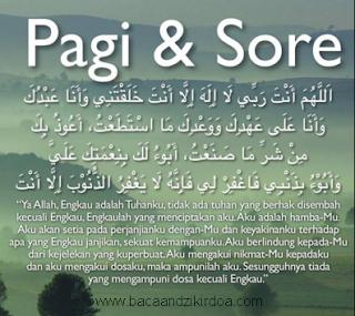 Bacaan Doa Pagi dan Sore Hari Arab Latin dan Terjemahannya