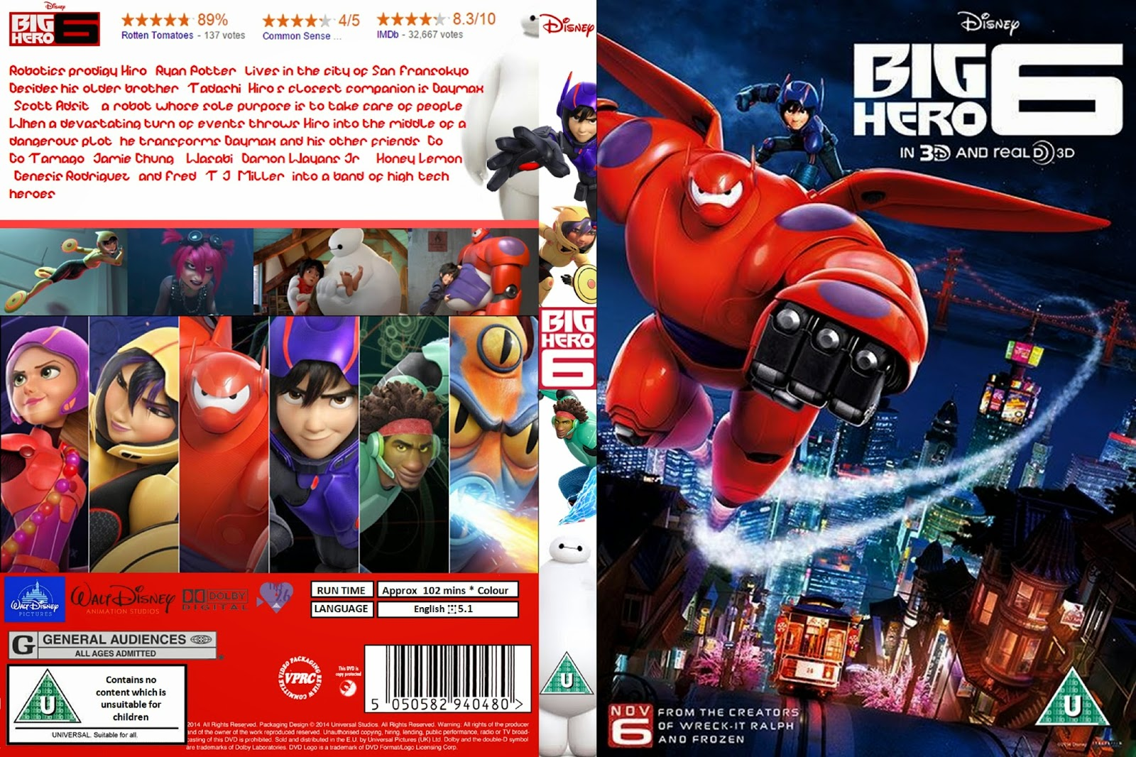 Big Hero 6 (2014) Mεταγλωτισμενο ταινιες online seires oipeirates greek subs