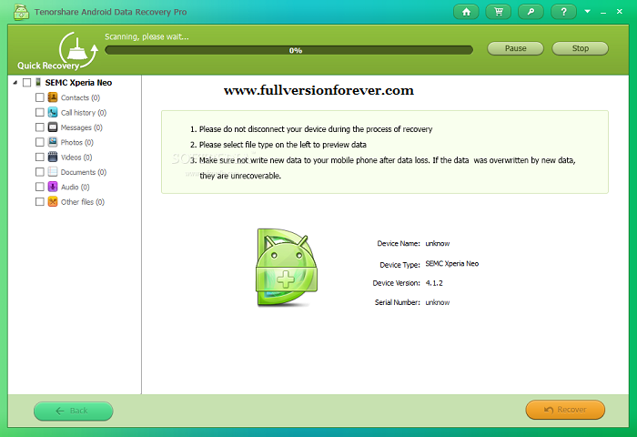 android phone data recovery software with crack