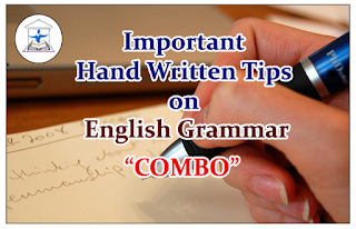 "Important Hand Written Tips on English Grammar – ""COMBO"""