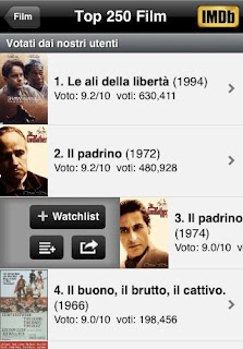 L'app IMDb Film & TV il più grande database di informazione sui film su iPhone e iPad vers 2.5.1