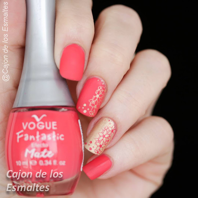 Esmaltes Vogue y  Placa de estampar Fing'rs