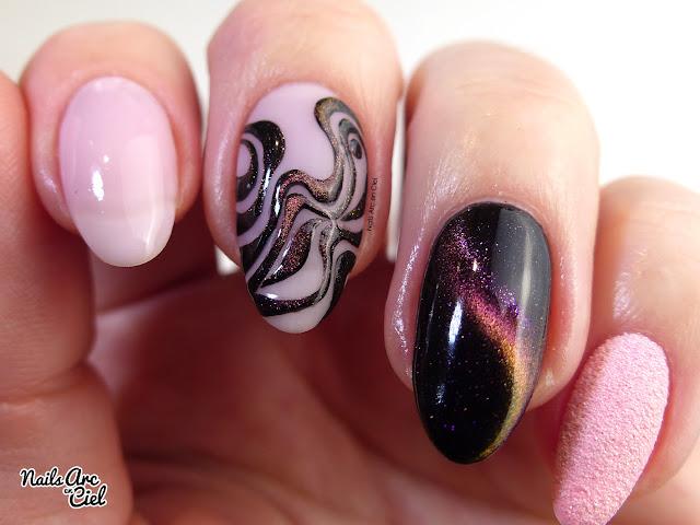 Nail Art - Abstrait 3D avec un VSP magnetique par Nails Arc en Ciel