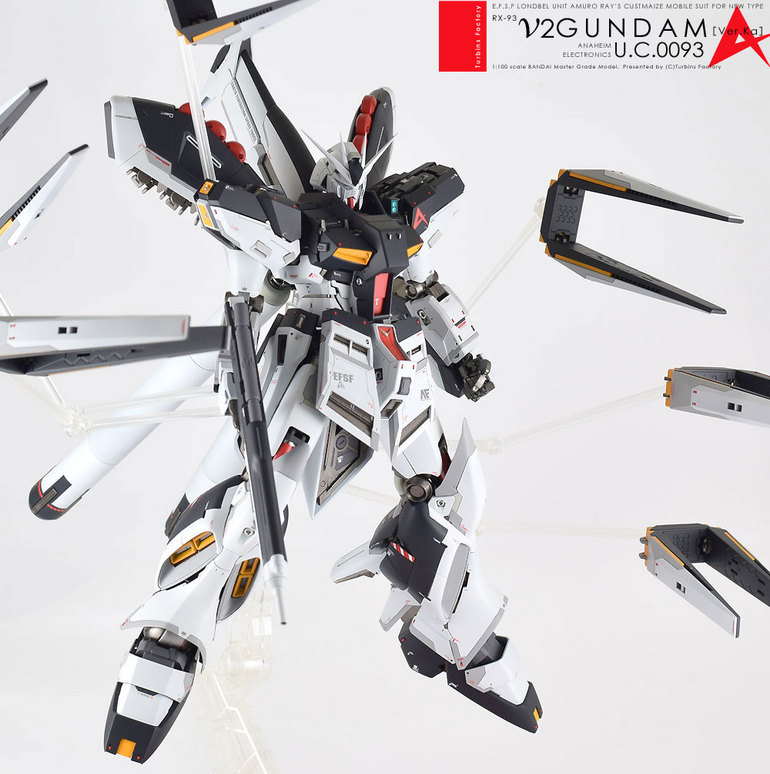 Custom Build: MG 1/100 hi-nu Gundam Ver. Ka [Detailed] - Gundam Kits Collection News and Reviews
