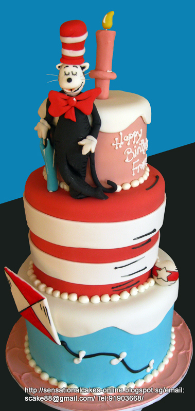 cat in the hat cake cakes2share singapore cat in hat theme cake singapore 2517