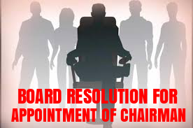 Board-Resolution-Appointment-Chairman