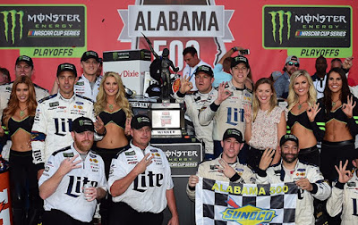 """It is a special place to get to race and a special place when you win here,"" commented Keselowski in victory lane."