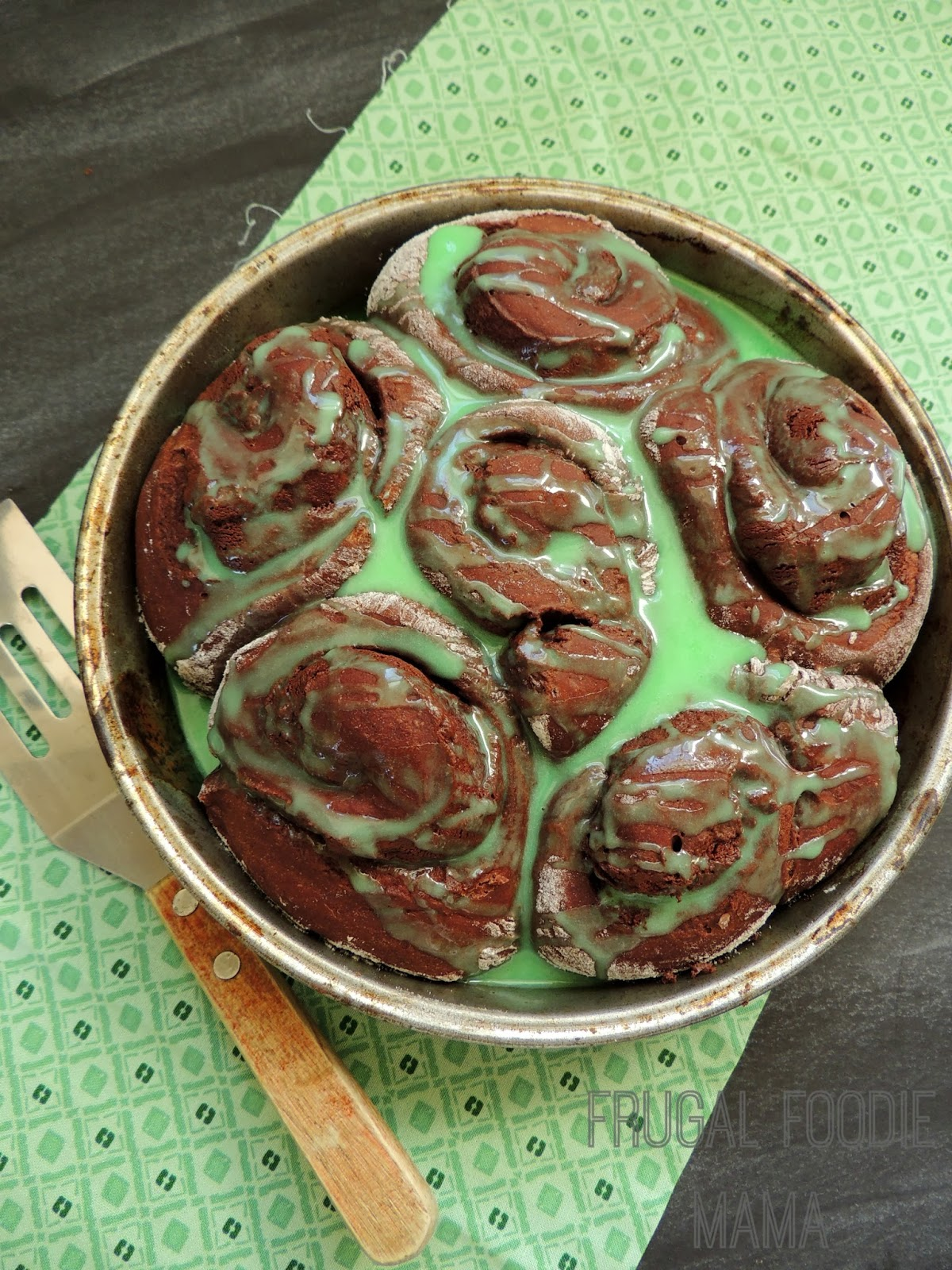 These cake mix Chocolate Mint Sweet Rolls are so rich and decadent that they can double as a breakfast & dessert.