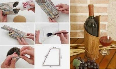 Botellero de carton corrugado tutorial