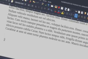 Numeração de páginas No Libreoffice
