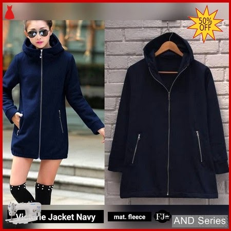 AND264 Jaket Wanita Victoria Jacket Biru Navy BMGShop