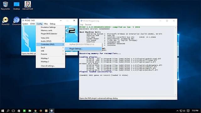 Cara Setting Joystick pada PCSX2 1.4.0