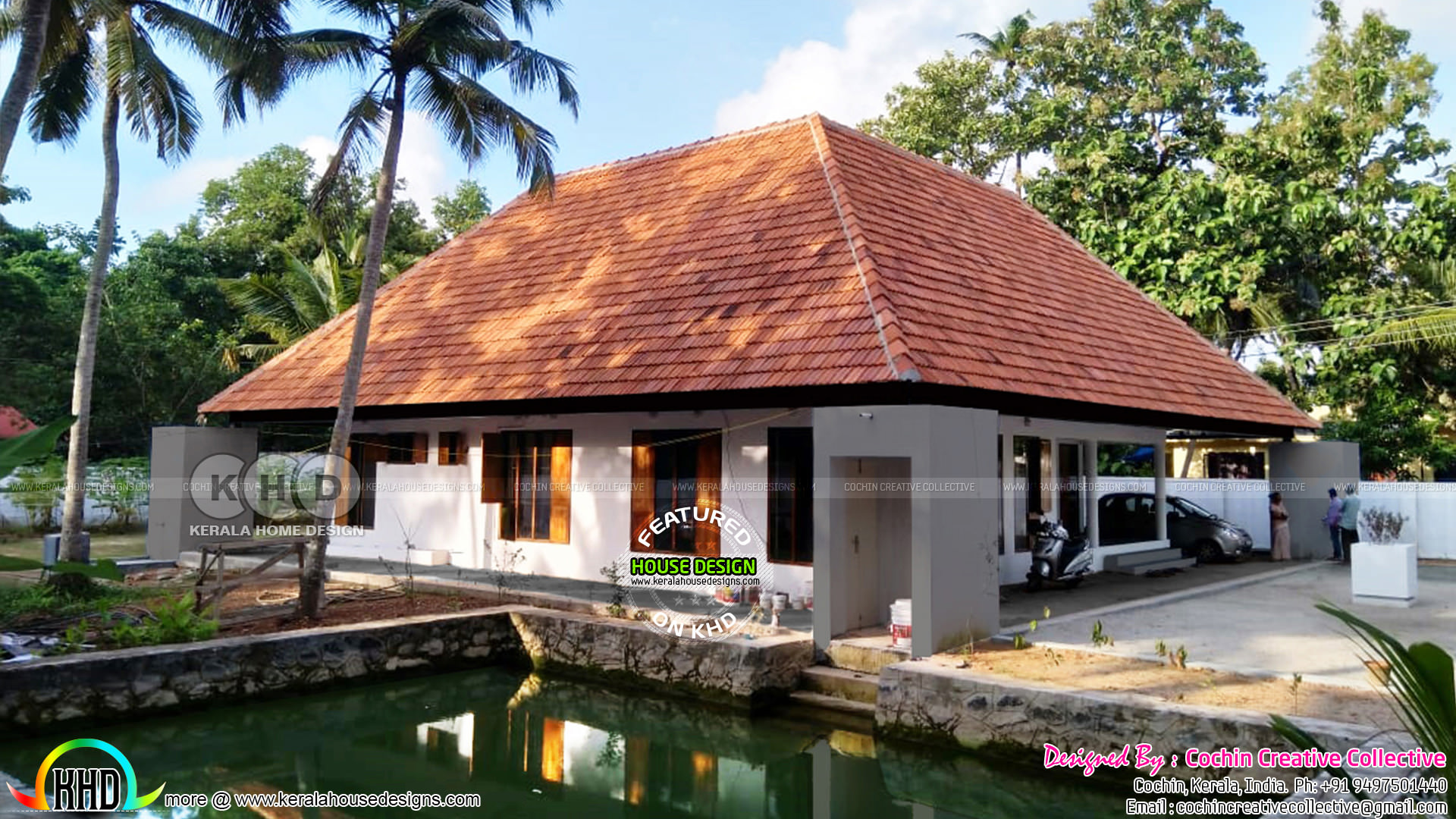 1800 Sq Ft 3 Bedroom Sloping Roof House Kerala Home Design