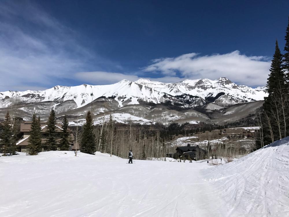 Spring Skiing in Telluride, Colorado.