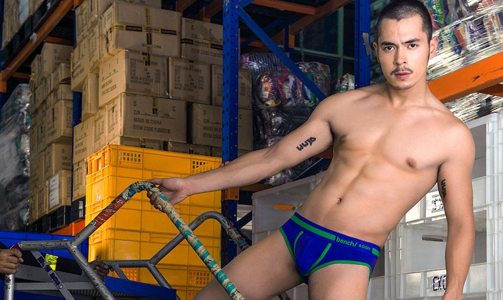 Jake Cuenca Shirtless for Bench Body Underwear