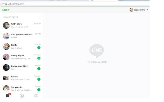 LINE@ Di PC Desktop