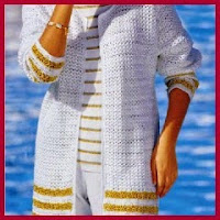 CHAQUETA LARGA CROCHET