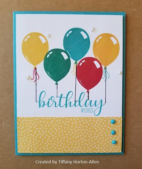 Sunny Studio Stamps: Birthday Balloon Customer Card Share by Tiffany Horton-Allen