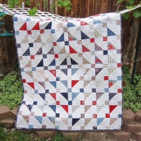 Jelly Turnover Quilt designed by Shannon Mower from Modern Tradition Quilts for Modabakeshop
