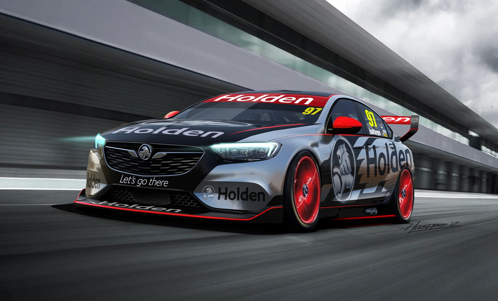 new commodore v8 supercar concept previews holdens next racer