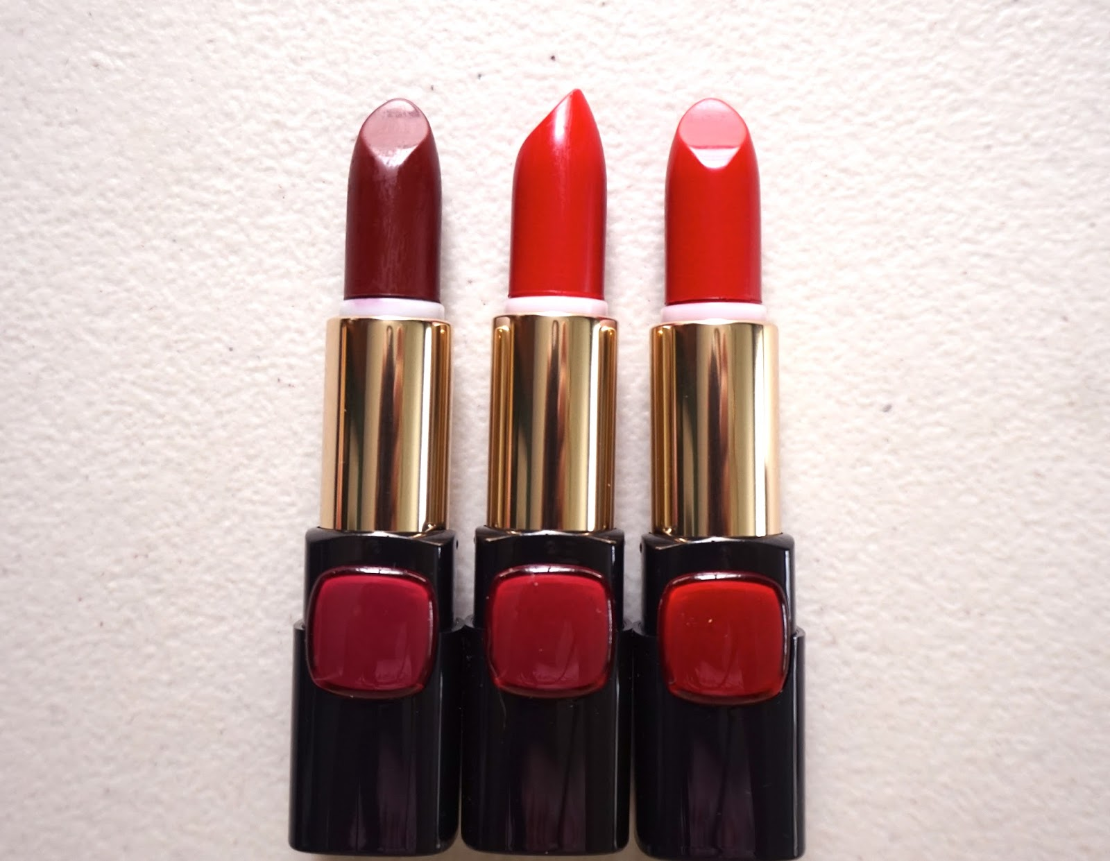 L Oreal Color Riche Collection Star Matte Reds Collection