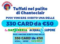 Logo Chanteclair: tuffati nel pulito e vinci 330 card da 50€ Acqua&Sapone e La Saponeria