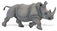 large rhino toy miniature wildlife wonders