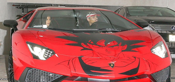 chris brown goku paint lamboghini