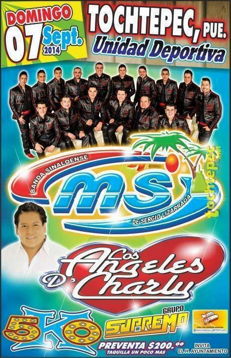 Banda MS en la Feria Tochtepec 2014