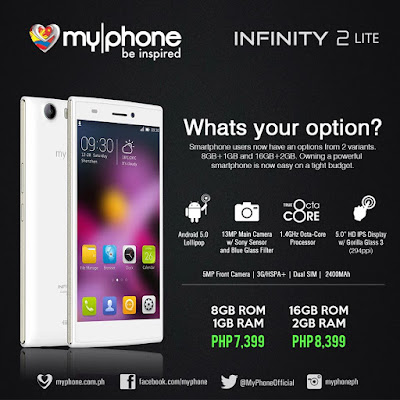 MyPhone Infinity 2 Lite: Specs, Price and Availability