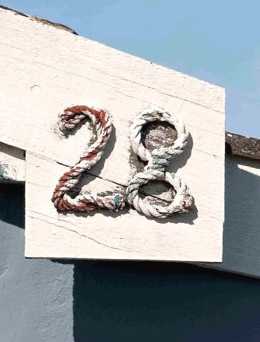 Nautical Rope Craft Ideas House Numbers