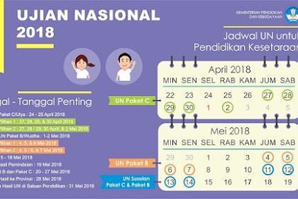 Perubahan Jadwal Ujian Nasional Tahun 2019
